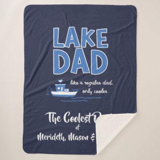 クールな湖のパパのカスタムのギフト シェルパブランケット