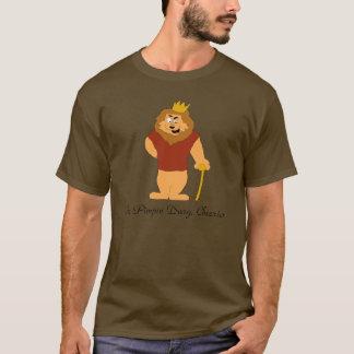クールな漫画のライオン Tシャツ