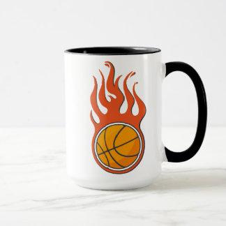 クールな火のバスケットボールのマグ マグカップ