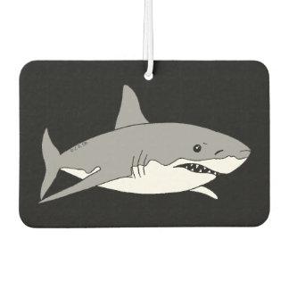クールな灰色の鮫 カーエアーフレッシュナー