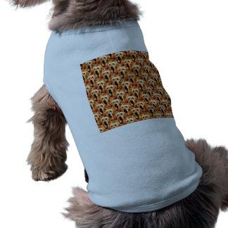 クールな犬の芸術の小犬のゴールデン・リトリーバーの抽象芸術 ペット服