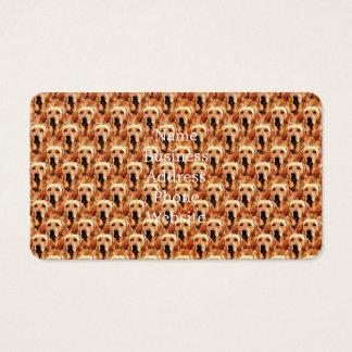クールな犬の芸術の小犬のゴールデン・リトリーバーの抽象芸術 名刺