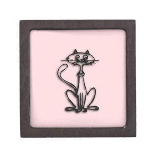 クールな猫のピンク ギフトボックス