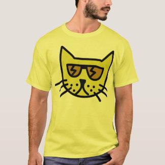 クールな猫の顔 Tシャツ