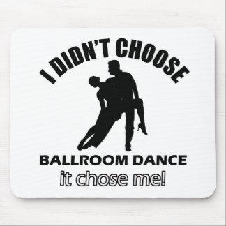 クールな社交ダンスのデザイン マウスパッド