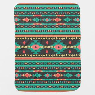 クールな種族の民族のナバホー人の幾何学的なパターン ベビー ブランケット