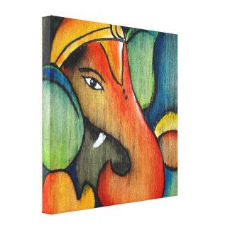 クールな色彩の配合のGanesha キャンバスプリント