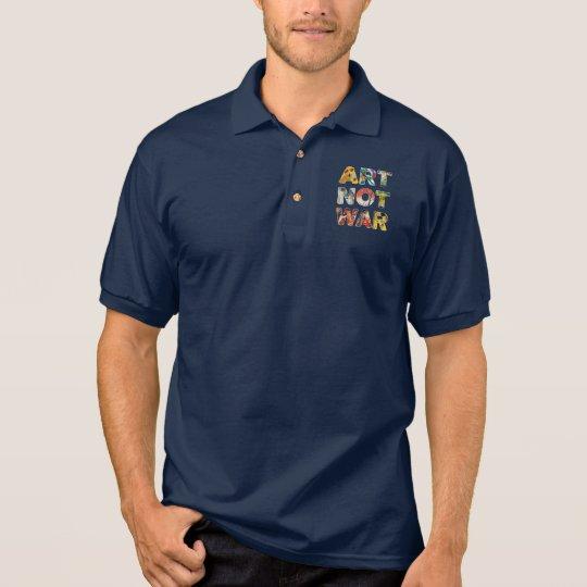 クールな芸術おもしろいな平和のためのない戦争の有名な芸術家 ポロシャツ