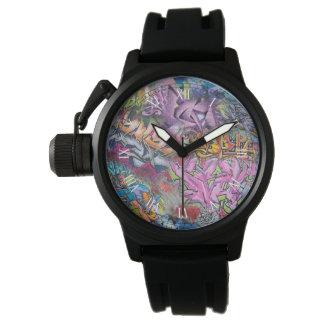 クールな落書きの通りの芸術の抽象芸術 腕時計