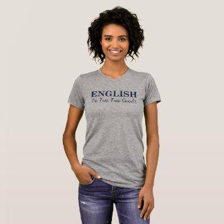 クールな言葉遊びの英国のTシャツ Tシャツ