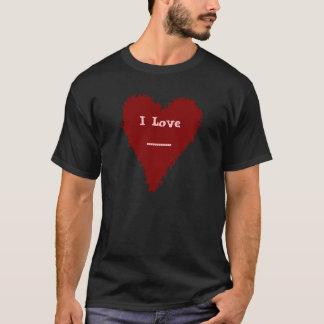 クールな赤いハートの人または女性Tシャツ Tシャツ