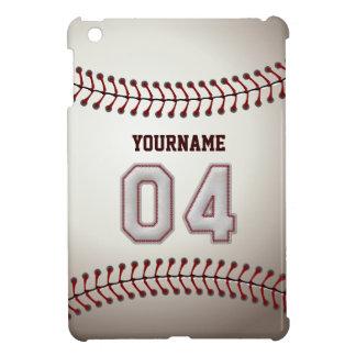 クールな野球のステッチ-カスタムな第04および名前 iPad MINIカバー