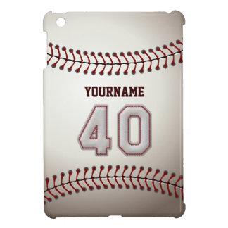 クールな野球のステッチ-カスタムな第40および名前 iPad MINIケース