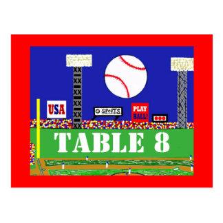 クールな野球のスポーツバーの(ユダヤ教の)バル・ミツバーのテーブル数カード ポストカード