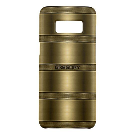 クールな金属金ゴールドのストライプなパターン Case-Mate SAMSUNG GALAXY S8ケース