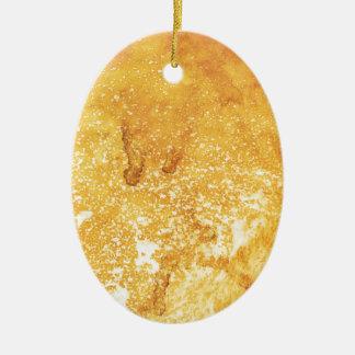 クールな金黄色によって漂白されるペンキの効果 セラミックオーナメント