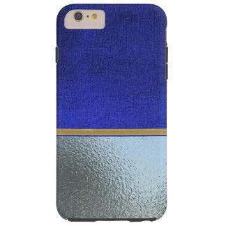 クールな銀および青いビロードの細い薬莢 TOUGH iPhone 6 PLUS ケース