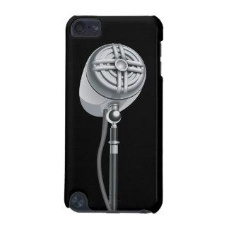 クールな銀製のレトロのマイクロフォン iPod TOUCH 5G ケース