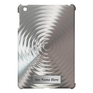 クールな銀製の円の金属はiPadの場合を振ります iPad Mini Case