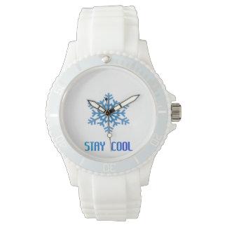 クールな雪片 腕時計