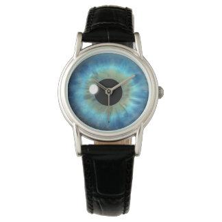 クールな青い目のアイリス眼球のカスタムの腕時計 腕時計