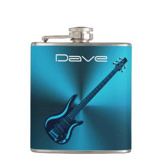 クールな青のエレキギターカスタムな音楽フラスコ フラスク
