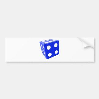 クールな青3Dは部分ゲームの死にます バンパーステッカー