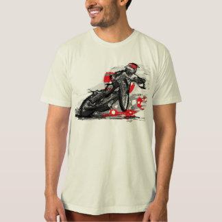 クールな高速自動車道路のオートバイのレーサー Tシャツ