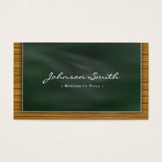 クールな黒板の黒板-学校教師 名刺