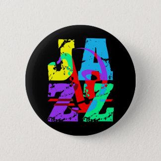 クールな、情報通のジャズ 缶バッジ