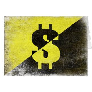 クールなAnarcho資本家の旗が付いている挨拶状 カード