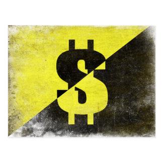 クールなAnarcho資本家の旗とのPostard ポストカード