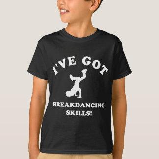 クールなbreakdanceのデザイン tシャツ