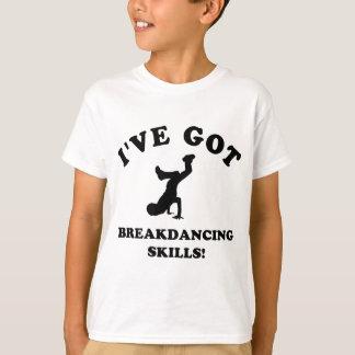 クールなbreakdanceの技術 tシャツ