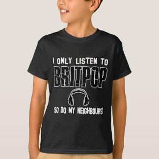 クールなBRITPOPのデザイン Tシャツ