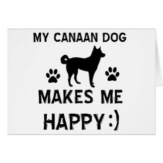 クールなCanaan犬犬の品種デザイン カード