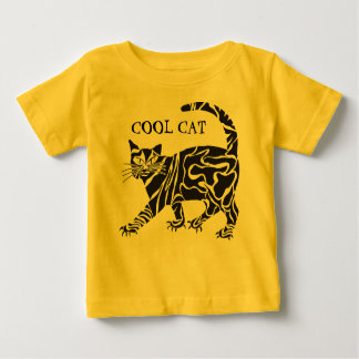 クールなCAT種族TATTOO-LIKEのTシャツ ベビーTシャツ