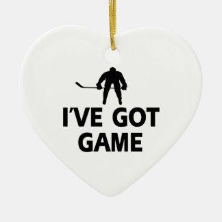 クールなicehockeyのデザイン セラミックオーナメント