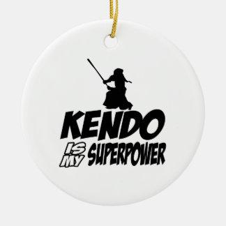 クールなKENDOのデザイン セラミックオーナメント