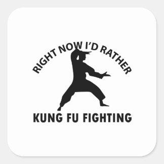 クールなKungのfuのデザイン スクエアシール