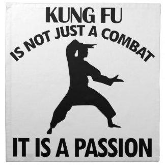 クールなKungのfuのデザイン ナプキンクロス