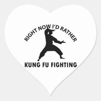 クールなKungのfuのデザイン ハートシール