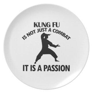 クールなKungのfuのデザイン プレート