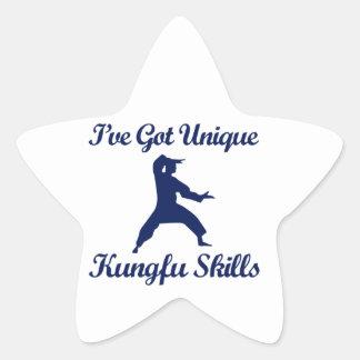 クールなkungのfuのデザイン 星シール