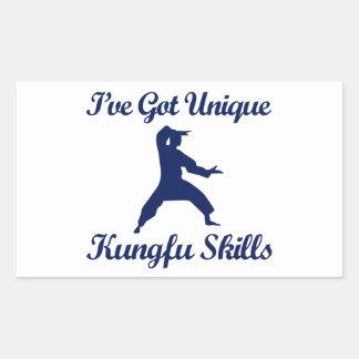 クールなkungのfuのデザイン 長方形シール