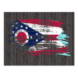 クールなOhioanの旗のデザイン ポストカード