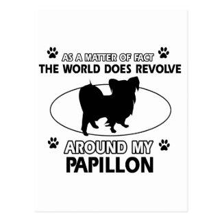 クールなPAPILLONのデザイン ポストカード