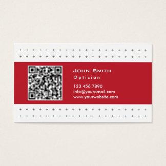 クールなQRコード赤いラベルの光学名刺 名刺