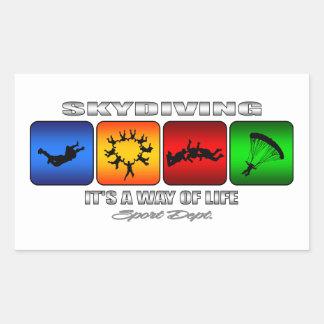 クールなSkydivingそれは生き方です 長方形シール