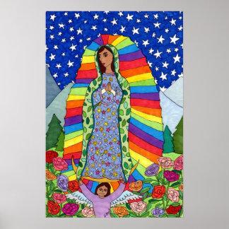 グアダルペのメキシコ民芸の放射ヴァージン ポスター